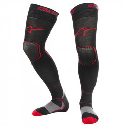 ALPINESTARS KNEE BRACE LONG SOCKS BLACK/RED