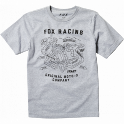 T-SHIRT FOX JUNIOR FAST TRACK LIGHT HEATHER GREY