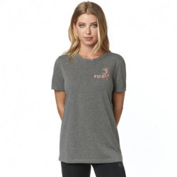 T-SHIRT FOX LADY LIVE FAST HEATHER GRAPHITE