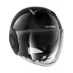 SHARK NANO BLANK HELMET BLACK