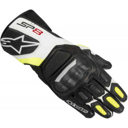 ALPINESTARS SP-8 V2 GLOVES WHITE/BLACK/FLUO YELLOW