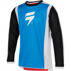 SHIFT JUNIOR WHIT3 RACE JERSEY WHITE/RED/BLUE