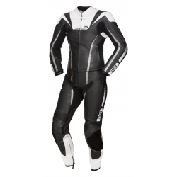 IXS LADY RS-1000 BLACK/WHITE/SILVER 2PC LEATHER SUIT