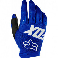 GLOVES FOX DIRTPAW RACE BLUE/WHITE