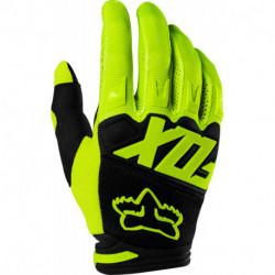 GLOVES FOX DIRTPAW RACE FLO YELLOW
