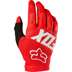 GLOVES FOX JUNIOR DIRTPAW RACE RED