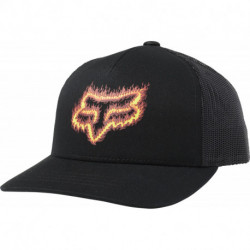 CZAPKA Z DASZKIEM FOX JUNIOR FLAME HEAD BLACK/ORANGE YOS