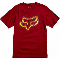 T-SHIRT FOX JUNIOR FLAME HEAD CARDINAL