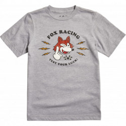 T-SHIRT FOX JUNIOR TEST YOUR LUCK LIGHT HEATHER GREY