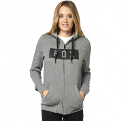 BLUZA FOX LADY Z KAPTUREM NA ZAMEK SOLO HEATHER GRAPHITE