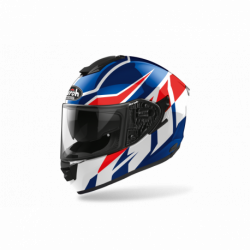 AIROH ST501 FROST HELMET BLUE/RED GLOSS