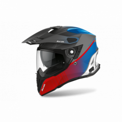 AIROH COMMANDER PROGRESS RED/BLUE MATT HELMET
