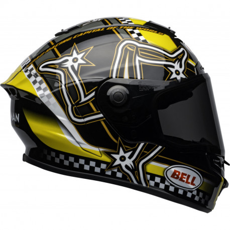 KASK BELL STAR DLX MIPS ISLE OF MAN BLACK/YELLOW