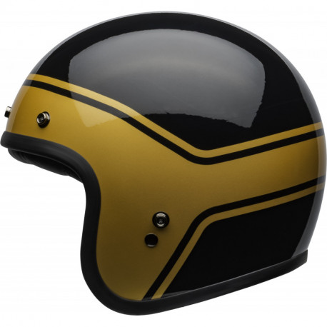 KASK BELL CUSTOM 500 DLX STREAK GLOSS BLACK/GOLD