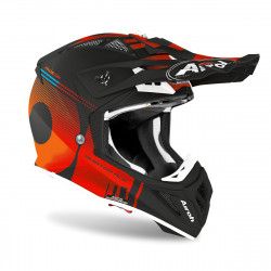 AIROH AVIATOR ACE NEMESI HELMET ORANGE MATT