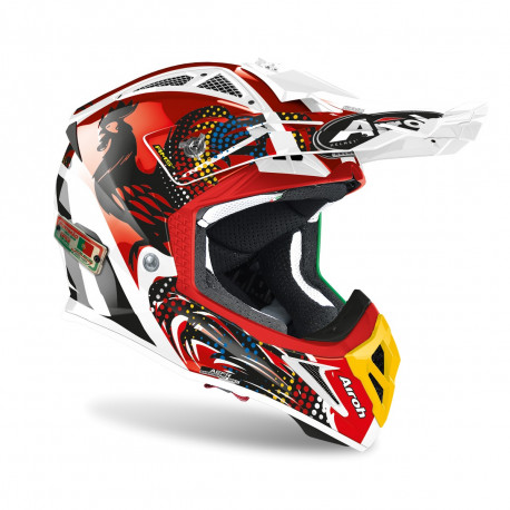 AIROH AVIATOR 2.3 AMS2 SIX DAYS HELMET 2020 PORTUGAL LIMITED EDITION
