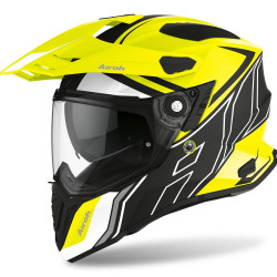 AIROH COMMANDER DUO YELLOW MATT HELMET