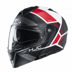 HJC I90 HOLLEN HELMET BLACK/WHITE/RED