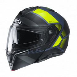 HJC I90 HOLLEN HELMET BLACK/FLO YELLOW