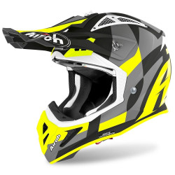 AIROH AVIATOR ACE TRICK HELMET YELLOW MATT