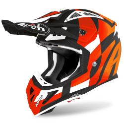 AIROH AVIATOR ACE TRICK HELMET ORANGE MATT