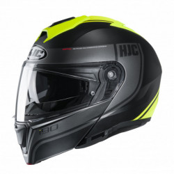 HJC I90 DAVAN HELMET BLACK/FLO YELLOW