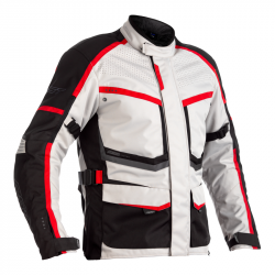 RST MAVERICK CE JACKET SILVER/BLACK/RED