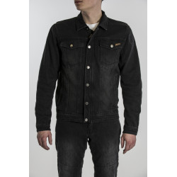 BROGER FLORIDA WASHED BLACK Motorcycle Jeans Jacket