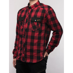 BROGER ALASKA RED/BLACK Motorcycle Shirt