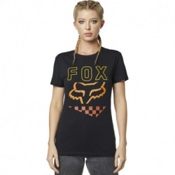 T-SHIRT FOX LADY RICHTER BLACK