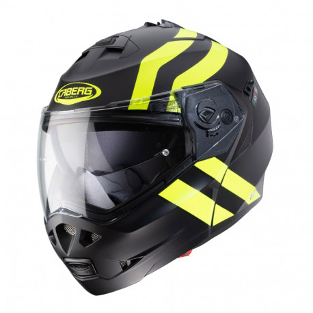 CABERG DUKE II SUPERLEGEND MATT BLACK/YELLOW FLUO HELMET