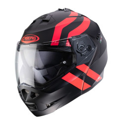 CABERG DUKE II SUPERLEGEND MATT BLACK/RED FLUO HELMET