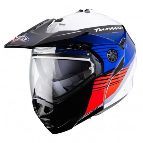 CABERG TOURMAX TITAN HELMET PINLOCK WHITE/BLUE/RED