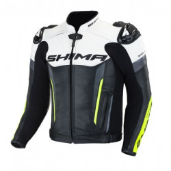 SHIMA BANDIT LEATHER JACKET FLUO