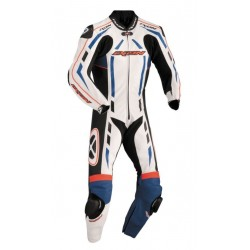 IXON PULSAR AIR BLACK/RED/WHITE/BLUE 1PC LEATHER SUIT