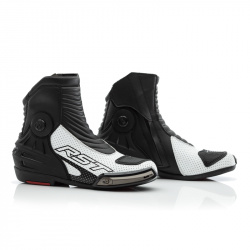 RST TRACTECH EVO III SHORT BOOTS BLACK/WHITE
