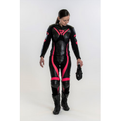 REBELHORN REBEL LADY LEATHER SUIT BLACK/PINK