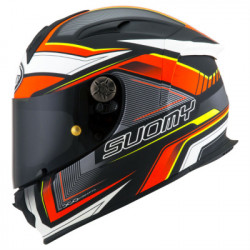 SUOMY SR SPORT ENGINE MATT BLACK RED HELMET