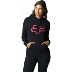 BLUZA FOX LADY Z KAPTUREM BOUNDARY BLACK/PINK
