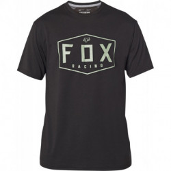 T-SHIRT FOX CREST TECH BLACK/GREEN