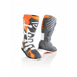 ACERBIS X-RACE BOOTS GREY ORANGE