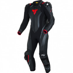 SHIMA APEX RS LEATHER SUIT BLACK RED