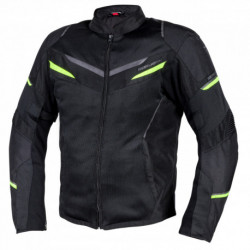 KURTKA TEKSTYLNA REBELHORN FLUX BLACK/FLO YELLOW
