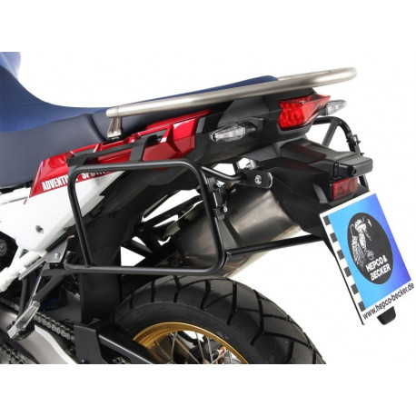 Sidecarrier permanent mounted - black for Honda CRF1000L Africa Twin Adventure Sports (2018-2019)