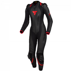SHIMA MIURA RS LEATHER SUIT BLACK/RED