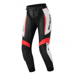 SHIMA LADY MIURA 2.0 BLACK RED FLUO LEATHER PANTS
