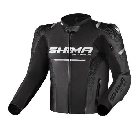 SHIMA STR 2.0 BLACK LEATHER JACKET