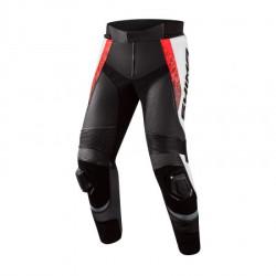 SHIMA STR 2.0 BLACK RED FLUO LEATHER PANTS