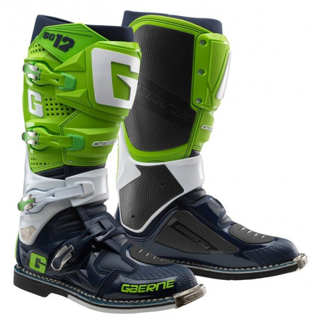 GAERNE SG12 FLUO GREEN WHITE NAVY LIMITED EDITION BOOTS
