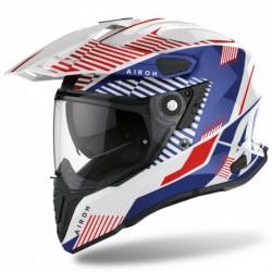 KASK AIROH COMMANDER BOOST WHITE/BLUE GLOSS
